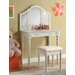Home & Haus Quesa 2-Piece Dressing Table Set with Mirror