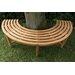 Home & Haus Kapuas Teak Semi-Circular Tree Bench