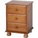 Home & Haus Apollo 3 Drawer Bedside Table