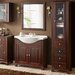 Home & Haus Willow 46 x 180cm Free Standing Tall Bathroom Cabinet