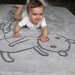 Art for kids Slate Grey Area Rug