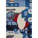 Art for kids Hand-TuftedBlue/Red Area Rug