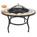 Gardeco Calenta Metal and Resin Fire Pit Table