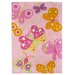 Andiamo Kinderteppich Butterfly in Pink
