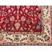 Parwis Handgeknüpfter Teppich Mohammadi Täbris in Rot