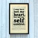 """Bookishly """"I May Have Lost My Heart..."""" from Emma by Jane Austen Framed Typography"""