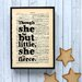 Bookishly Though She Be But Little... by William Shakespeare Framed Typography