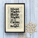"""Bookishly """"Silent Night"""" Framed Typography"""