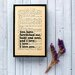 """Bookishly """"You Have Bewitched Me"""" from Pride and Prejudice by Jane Austen Framed Typography"""