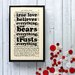 "Bookishly ""True Love..."" from A Message From the Sea by Charles Dickens Framed Typography"