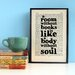 """Bookishly """"A Room Without Books..."""" by Cicero Framed Typography"""