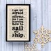 "Bookishly ""Learning How to Sail..."" from Little Women by Louisa May Alcott Framed Typography"
