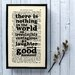 """Bookishly """"Laughter and Good Humour"""" from A Christmas Carol by Charles Dickens Framed Typography"""