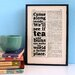 """Bookishly """"Tea and Buns"""" by Kenneth Grahame Framed Typography"""