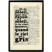 Bookishly Tu Es Mon Soleil Framed Typography