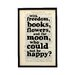Bookishly With Freedom, Books, Flowers,... by Oscar Wilde Framed Typography