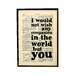 Bookishly I Would Not Wish Any Companion in the World But You from The Tempest by William Shakespeare Framed Typography