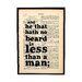 """Bookishly """"He That Hath No Beard..."""" by William Shakespeare Framed Typography"""