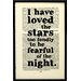 """Bookishly """"I Have Loved The Stars Too Fondly..."""" by Sarah Williams Framed Typography"""