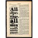 """Bookishly """"All the World's a Stage"""" by William Shakespeare Framed Typography"""