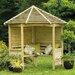 Forest Garden Venetian 4 Seater Wooden Corner Arbour