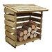 Forest Garden 4 Ft. W x 3 Ft. D Wooden Log Store