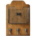 Carrick Design Heartwood Letter Wall Mounted Coat Rack with Hook
