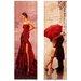 Carrick Design Elegant Ladies Art Print Wrapped on Canvas