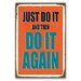 Cuadros Lifestyle Just Do It Typography Plaque