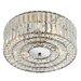 Dar Lighting Crystal 4 Light Flush Ceiling Light
