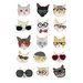 Hanna Melin Cats with Glasses Art Print