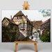 Big Box Art Schwind Wartburg Castle Courtyard by Moritz Von Art Print on Canvas