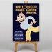 Big Box Art Halloween Roller Skating Carnival Vintage Advertisement on Canvas