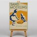 Big Box Art Sand Modelling Vintage Advertisement on Canvas