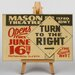 Big Box Art Turn to the Right Vintage Advertisement on Canvas