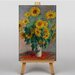 Big Box Art Bouquet of Sunflowers by Claude Monet Art Print on Canvas