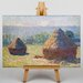 Big Box Art Haystacks by Claude Monet Art Print on Canvas