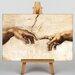 Big Box Art Cration of Adam Hands by Michelangelo Art Print on Canvas