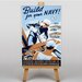 Big Box Art Build For Your Navy Vintage Advertisement on Canvas