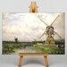 Big Box Art Windmills by Willem Roelofs Art Print on Canvas