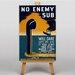 Big Box Art No Enemy Sub Vintage Advertisement on Canvas