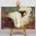 Big Box Art Woman in Bed by Jozsef Rippl-Ronai Art Print on Canvas