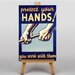 Big Box Art Protect Your Hands Vintage Advertisement on Canvas