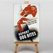 Big Box Art Dog Bites Vintage Advertisement on Canvas