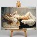 Big Box Art Godward Resting Girl by John William Art Print on Canvas