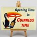 Big Box Art Opening Time is Guniness Time Vintage Advertisement on Canvas