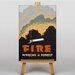 Big Box Art Fire Wrecks a Forest Vintage Advertisement on Canvas