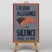 Big Box Art I Pledge Allegiance Vintage Advertisement on Canvas