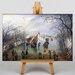 Big Box Art Winter Landscape by Adriaen Van Ostade Art Print on Canvas