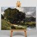 Big Box Art Daubigny Woman Standing Near a Pond by Charles-Francois Art Print on Canvas